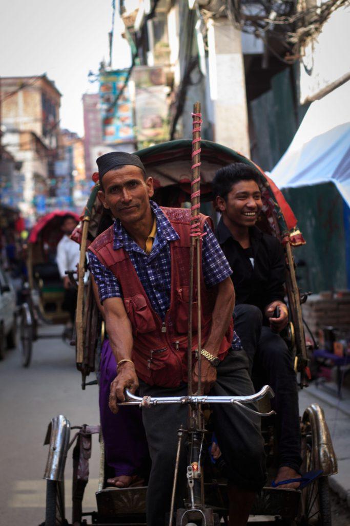 ריקשה אופניים בתאמל בקטמנדו.