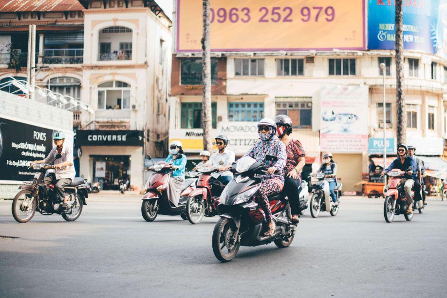 קטנוע בעיר